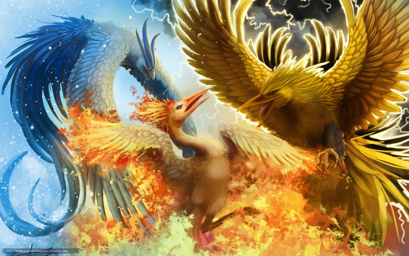 Download wallpaper Art,  Fantasy,  Birds,  phoenix free desktop wallpaper in the resolution 1680x1050 — picture №462878