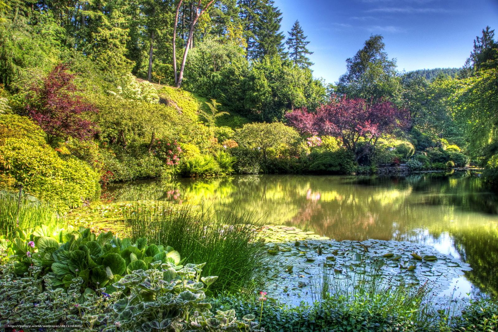 Tlcharger fond d 39 ecran jardin butchart gardens victoria for Jardines butchart
