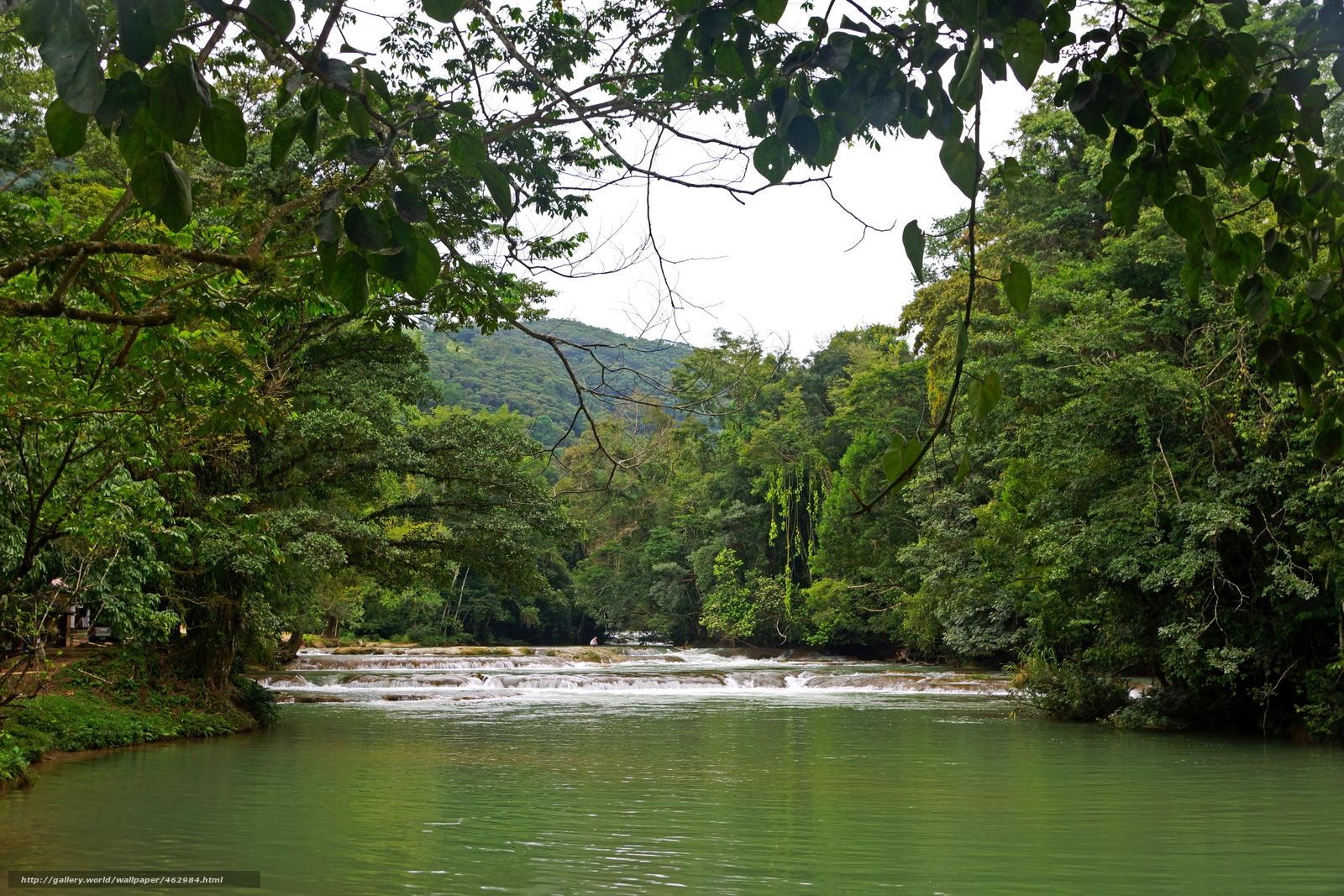 Скачать обои Река,  agua azul,  Мексика,  Чьяпас бесплатно для рабочего стола в разрешении 2895x1930 — картинка №462984