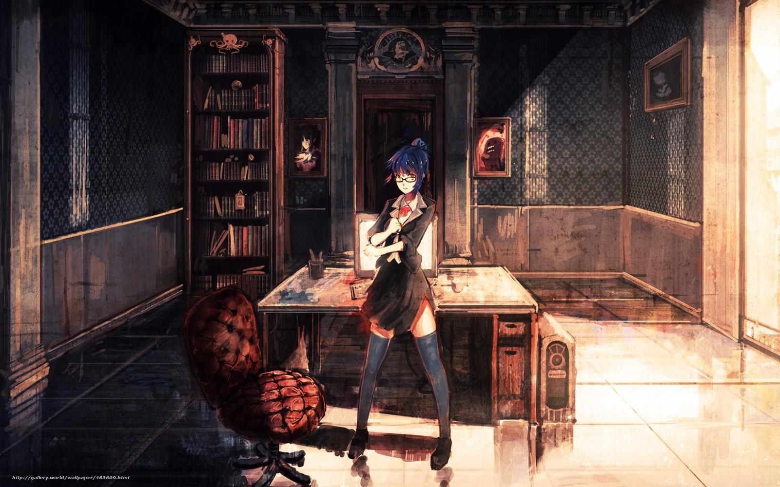 Descargar gratis Arte,  Anime,  nia,  habitacin Fondos de escritorio en la resolucin 1680x1050 — imagen №463609