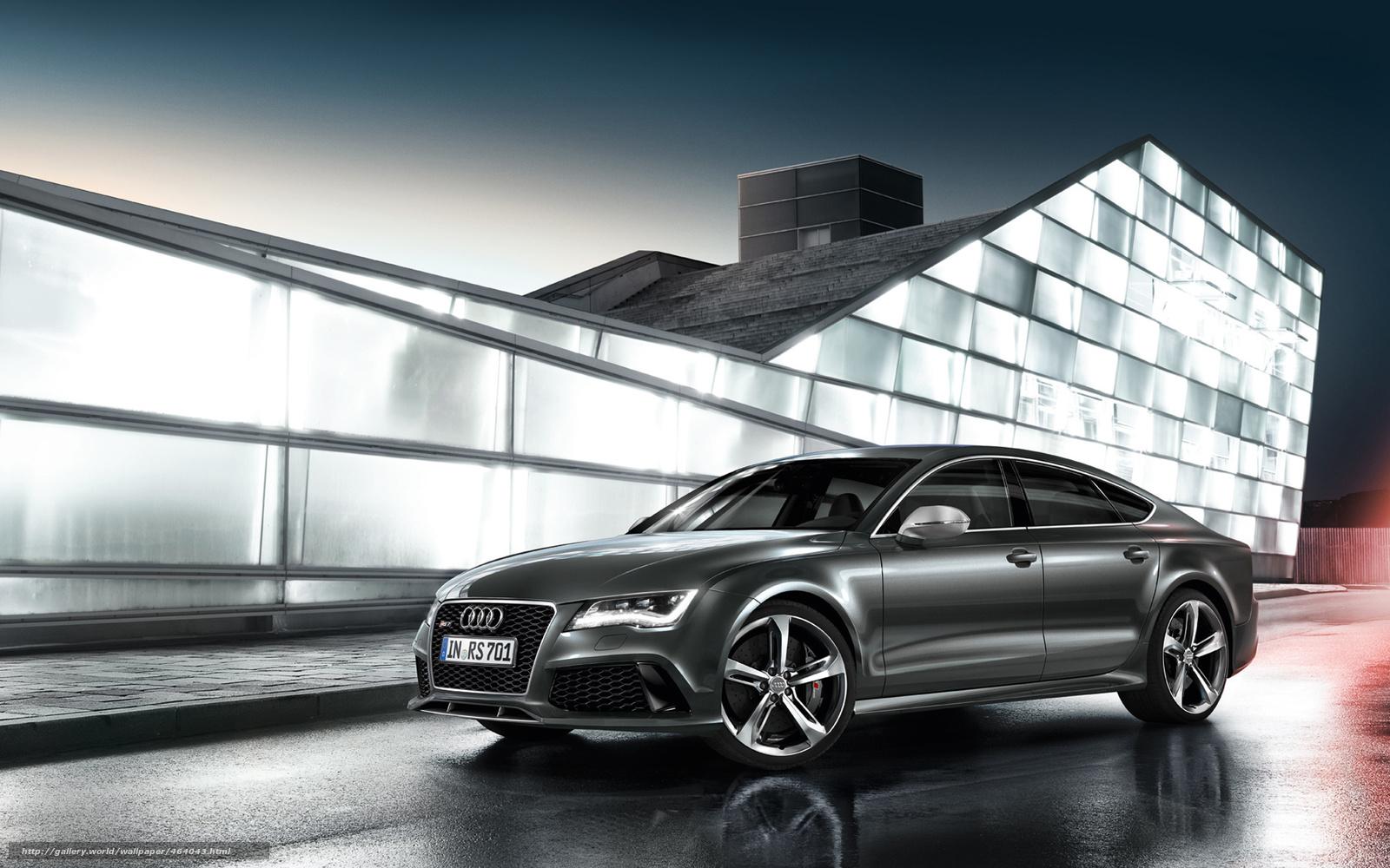 Tlcharger Fond D Ecran Audi Rs7 Sportback Gris Fonds D