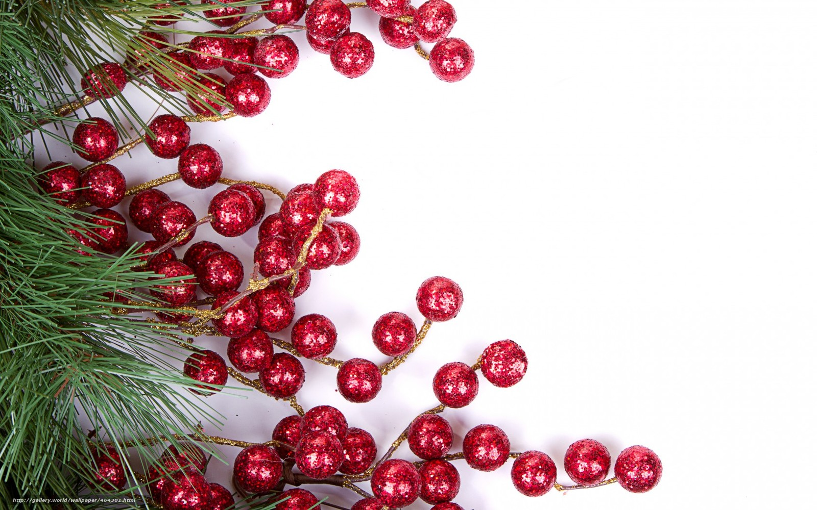 Download wallpaper Tree,  Berries,  holiday,  New Year free desktop wallpaper in the resolution 1680x1050 — picture №464301