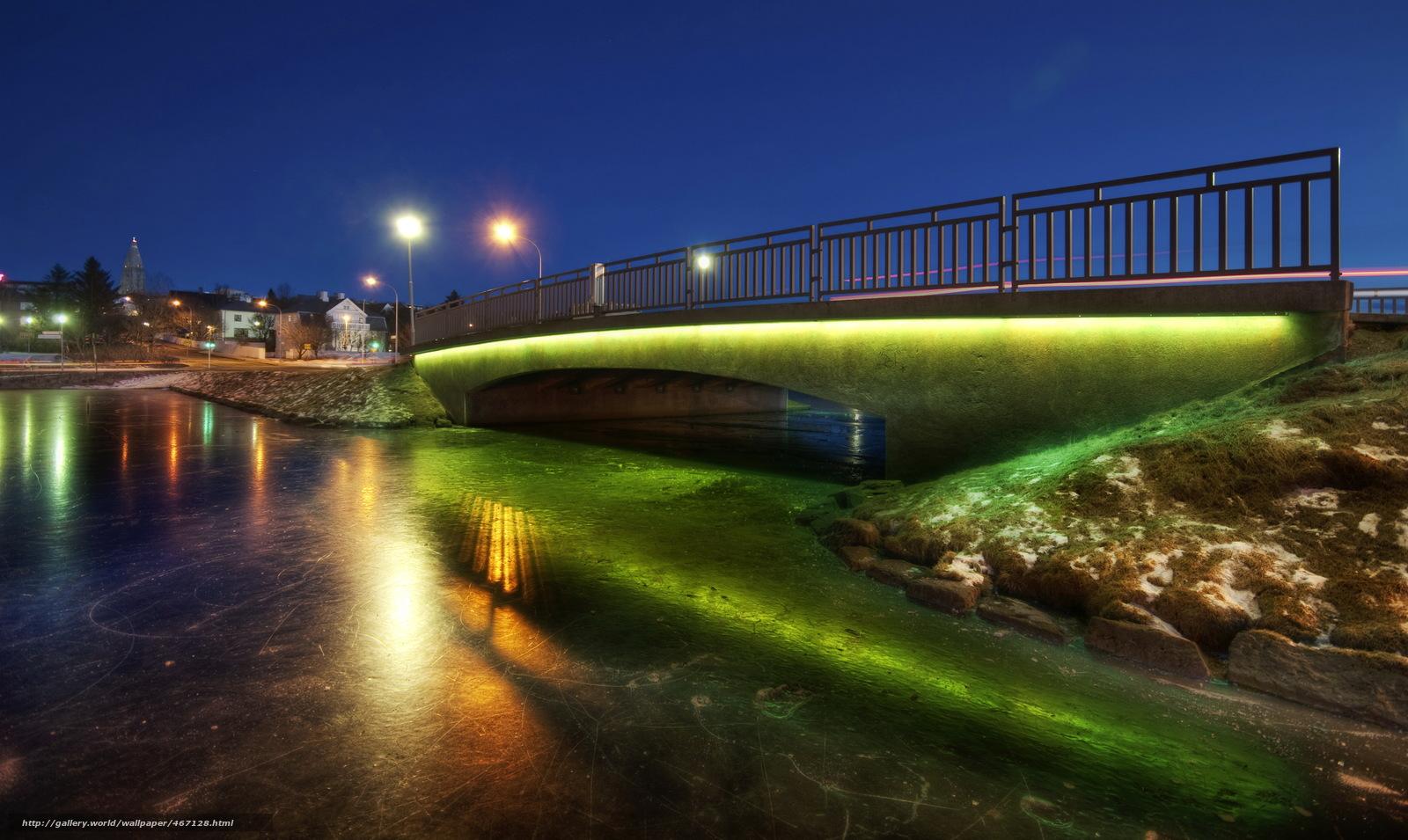 scaricare gli sfondi citt di notte,  Islanda,  ponti,  reykjavik Sfondi gratis per la risoluzione del desktop 3465x2068 — immagine №467128