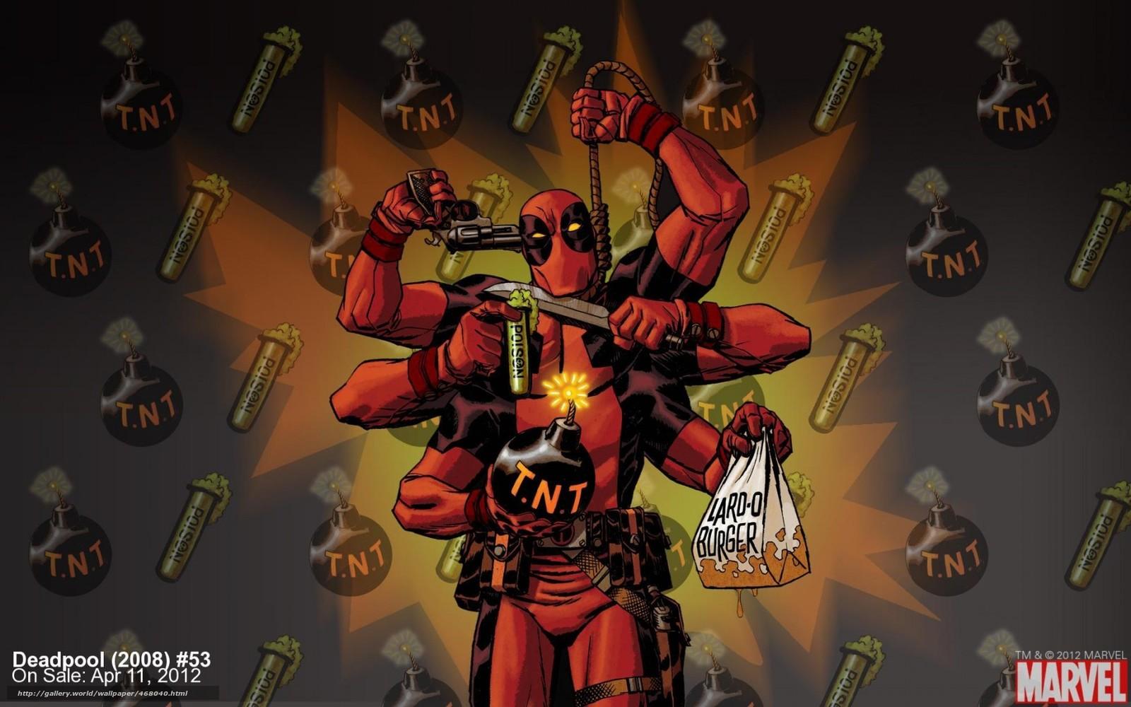 Descargar gratis Deadpool,  un superhroe,  tira cmica,  suicidio Fondos de escritorio en la resolucin 1680x1050 — imagen №468040