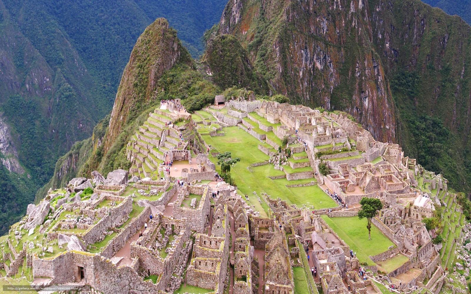 Download wallpaper Peru,  Machu Picchu,  City of the Incas,  ancient civilizations free desktop wallpaper in the resolution 1680x1050 — picture №468186