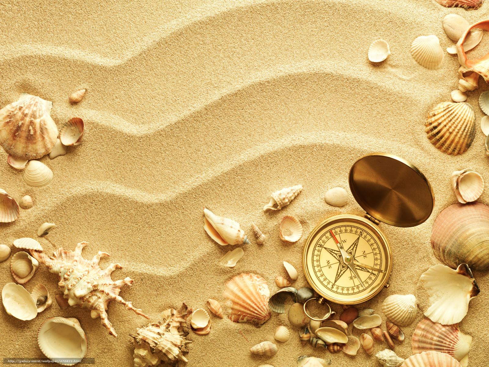 scaricare gli sfondi bussola,  conchiglie,  Lavello,  sabbia Sfondi gratis per la risoluzione del desktop 4740x3555 — immagine №470821