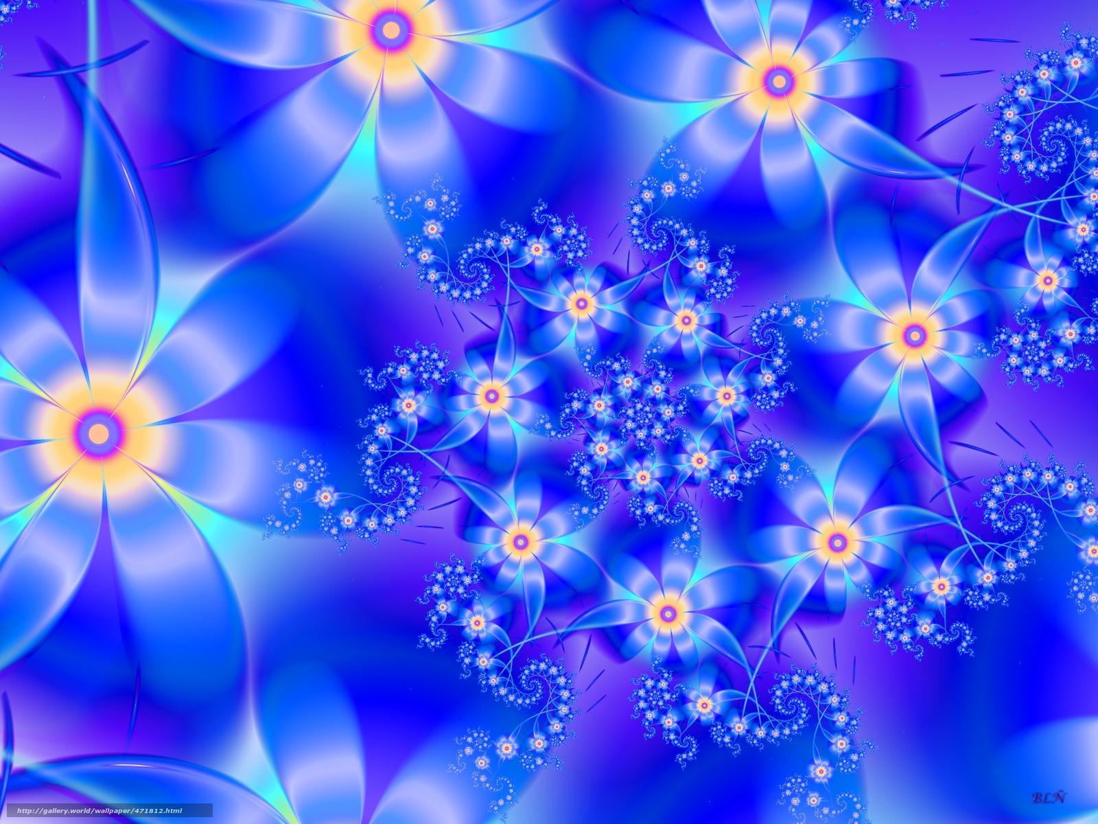 Скачать обои цветы,  лепестки,  синий бесплатно для рабочего стола в разрешении 1920x1440 — картинка №471812