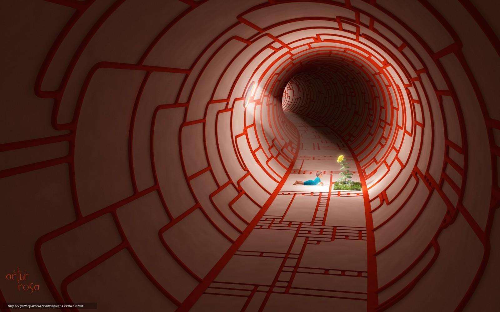 Download wallpaper corridor round child sunflower free desktop wallpaper in the resolution - Wallpaper corridor ...