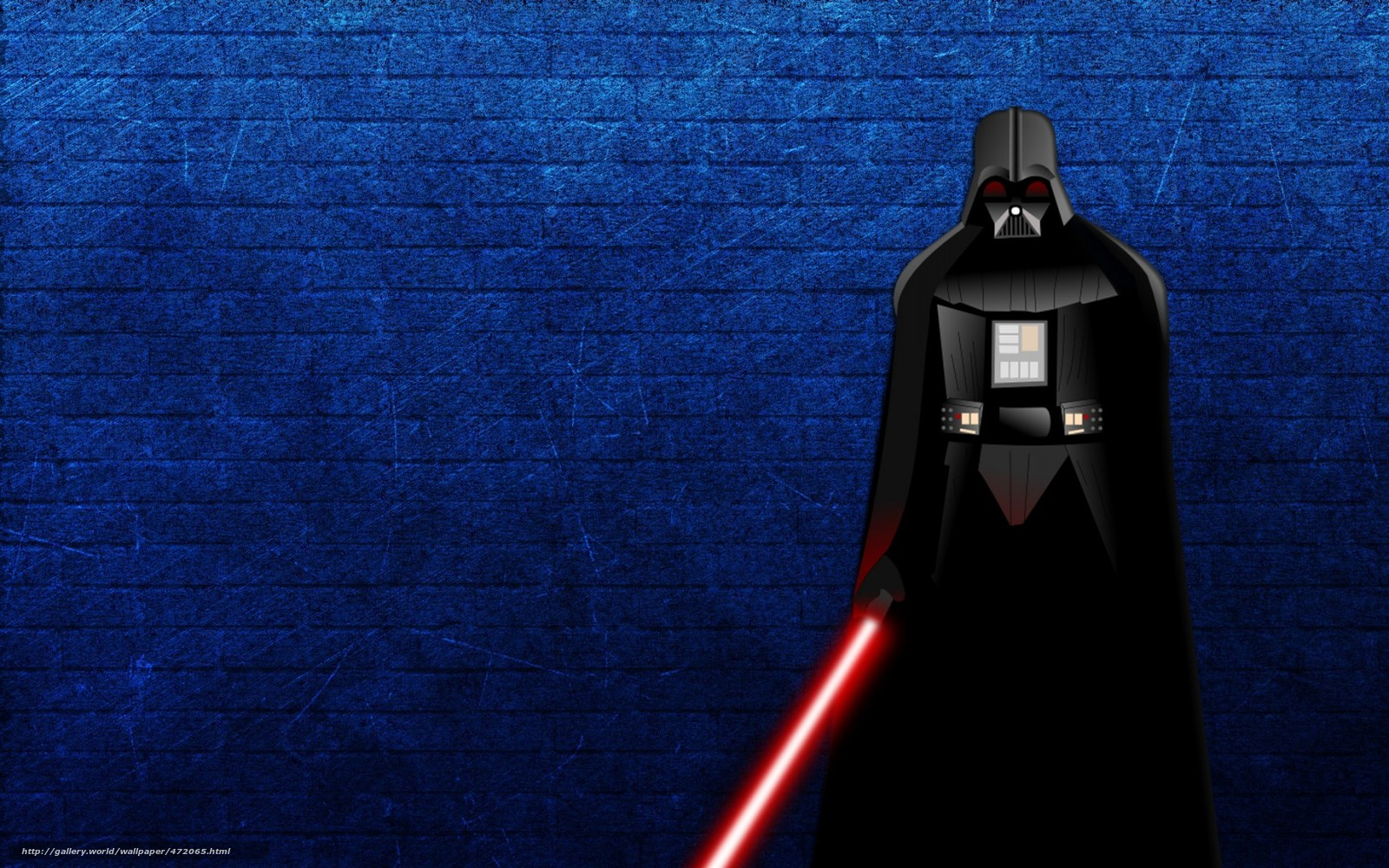 Scaricare Gli Sfondi Star Wars Darth Vader Spada Laser Sfondo Blu