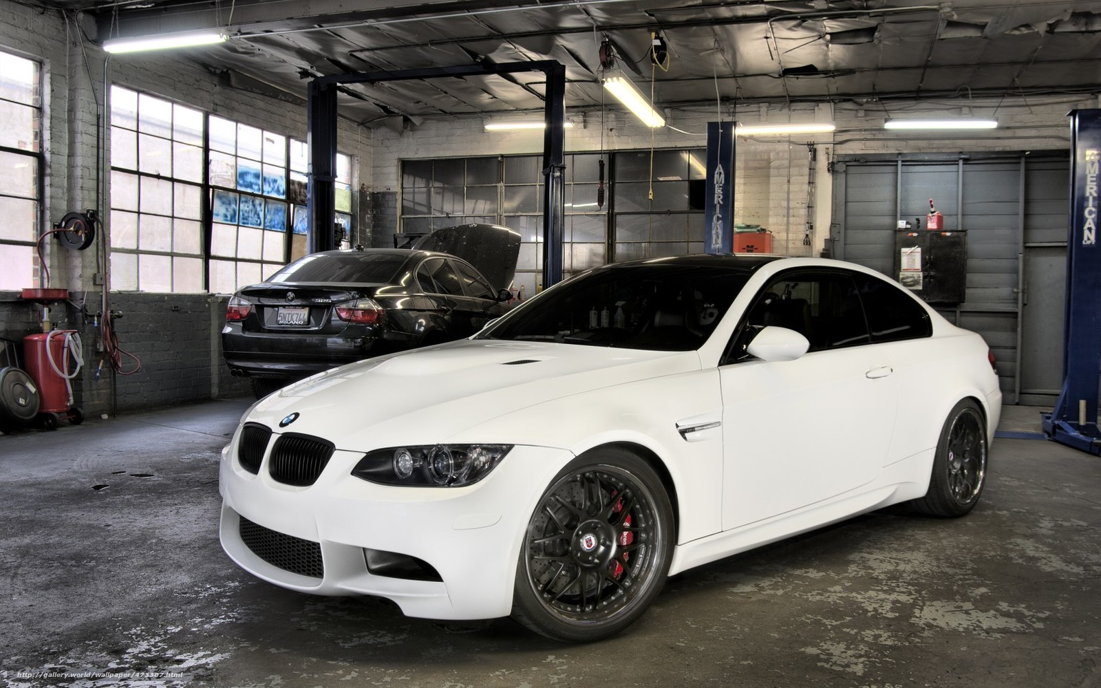 Download wallpaper BMW,  white,  Black,  workshop free desktop wallpaper in the resolution 1680x1050 — picture №473307