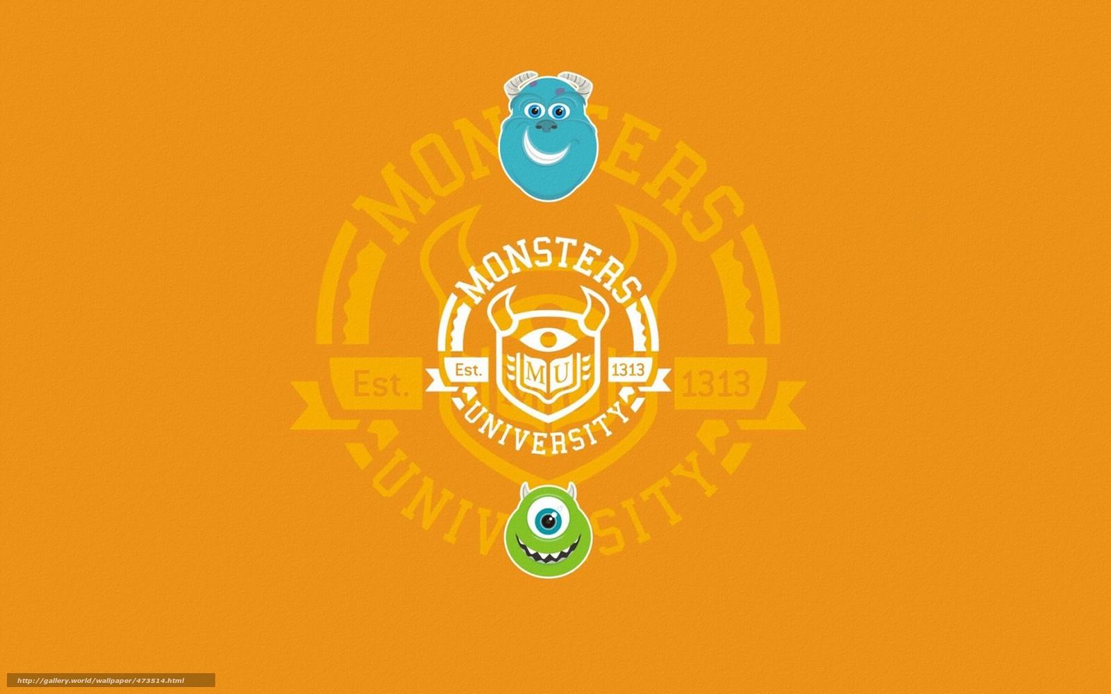 Download Hintergrund Monsters Universitt,  Monsters,  Inc.,  Reichweite Freie desktop Tapeten in der Auflosung 1680x1050 — bild №473514