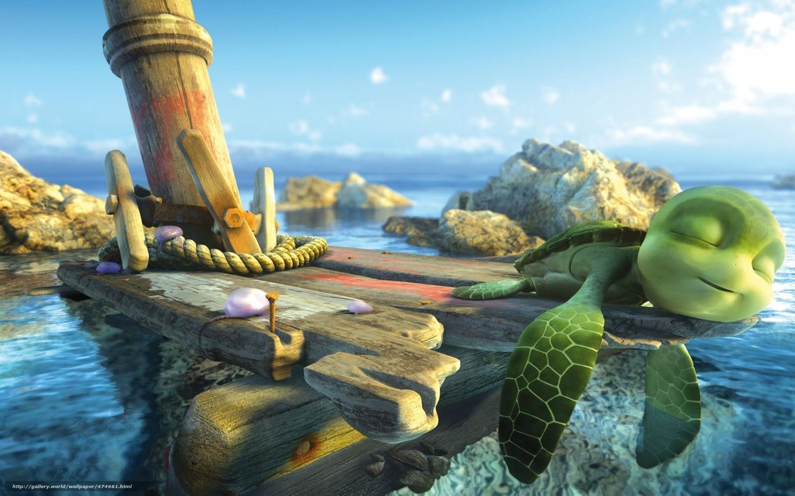 Scaricare gli sfondi tartaruga cartone animato sammy