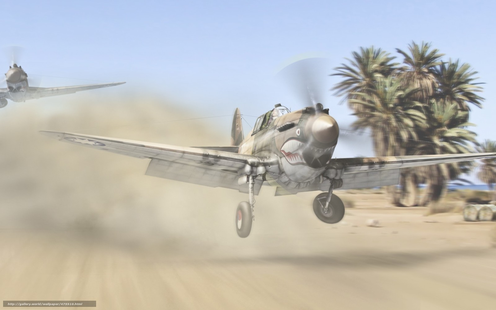 Скачать обои истребители,  самолёты,  летающие тигры,  авиация бесплатно для рабочего стола в разрешении 1680x1050 — картинка №475510