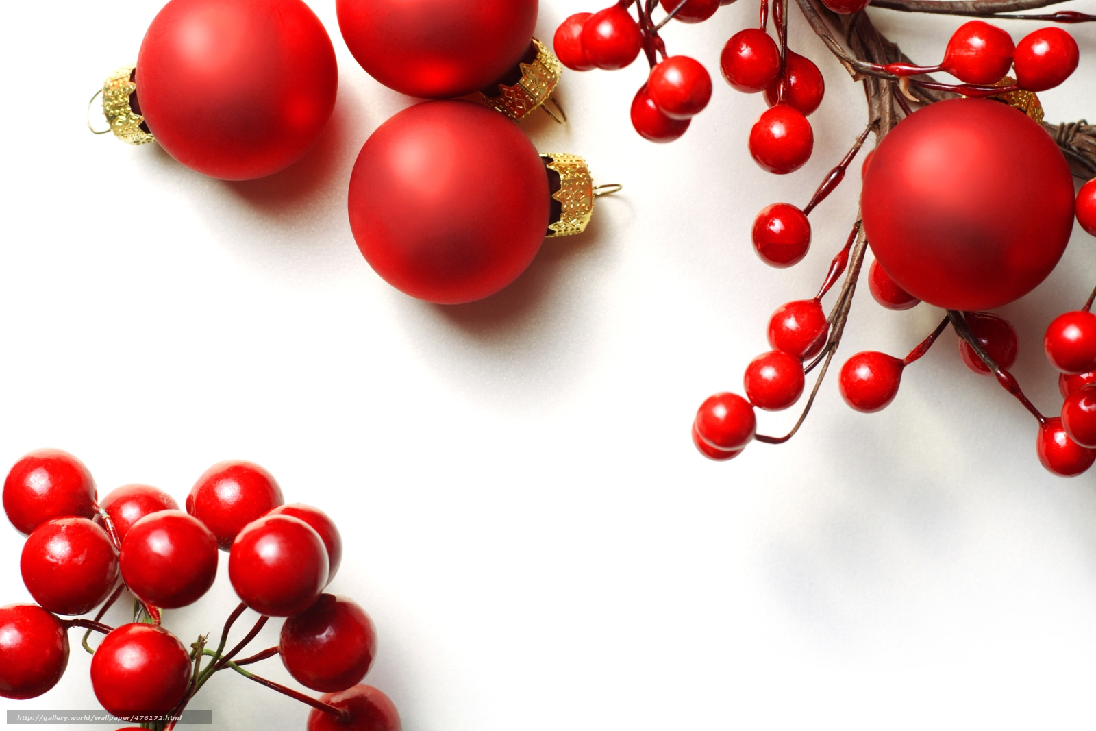 Download wallpaper Balls,  red,  Balls,  Christmas free desktop wallpaper in the resolution 6000x4000 — picture №476172
