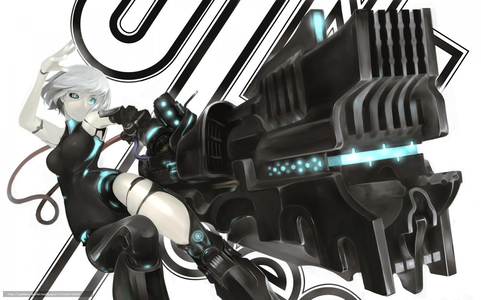 Download wallpaper Art,  girl,  weapon,  gun free desktop wallpaper in the resolution 1680x1050 — picture №476267