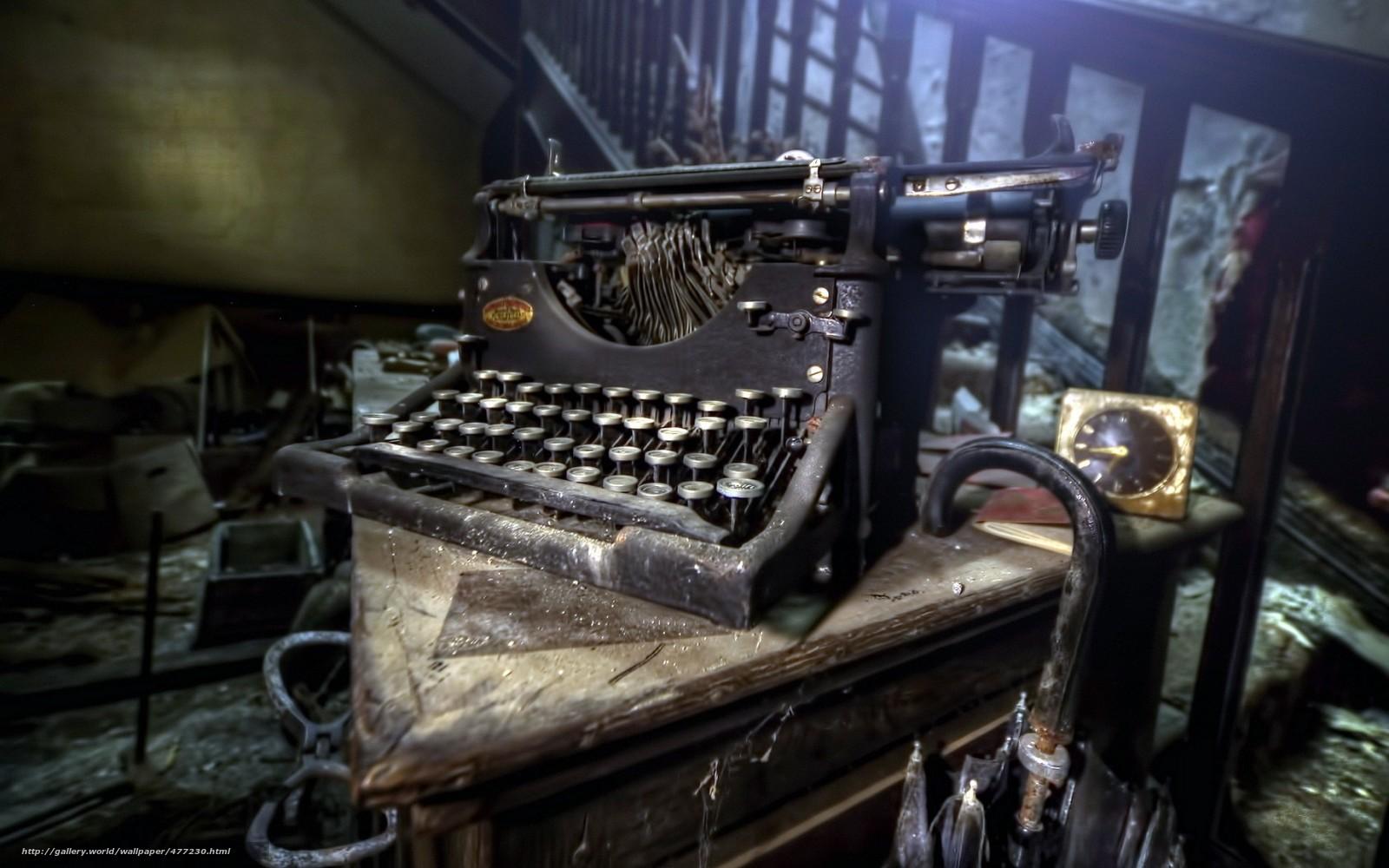 обои для рабочего стола печатная машинка № 1409181  скачать