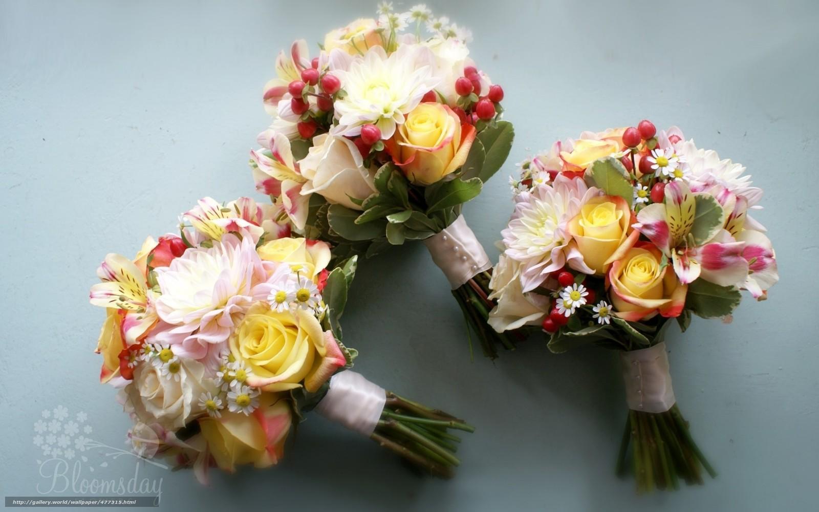 Скачать обои георгин,  розы,  ромашки,  альстромерия бесплатно для рабочего стола в разрешении 1680x1050 — картинка №477315