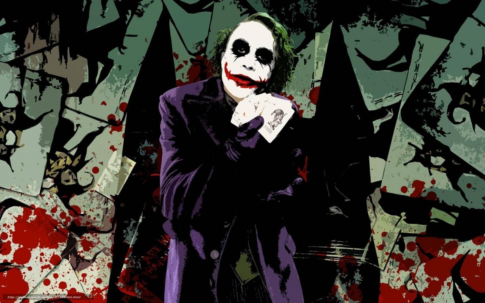 Download Hintergrund Joker,  Heath Ledger,  The Dark Knight Freie desktop Tapeten in der Auflosung 1680x1050 — bild №477492