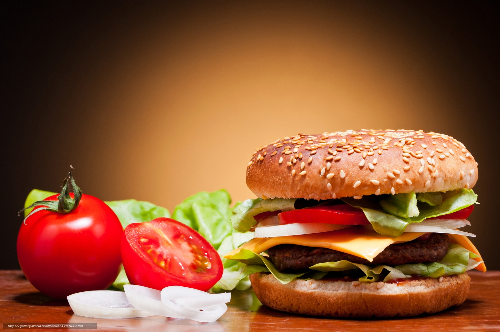 Download wallpaper hamburger,  roll,  sesame,  tomatoes free desktop wallpaper in the resolution 5900x3920 — picture №478465