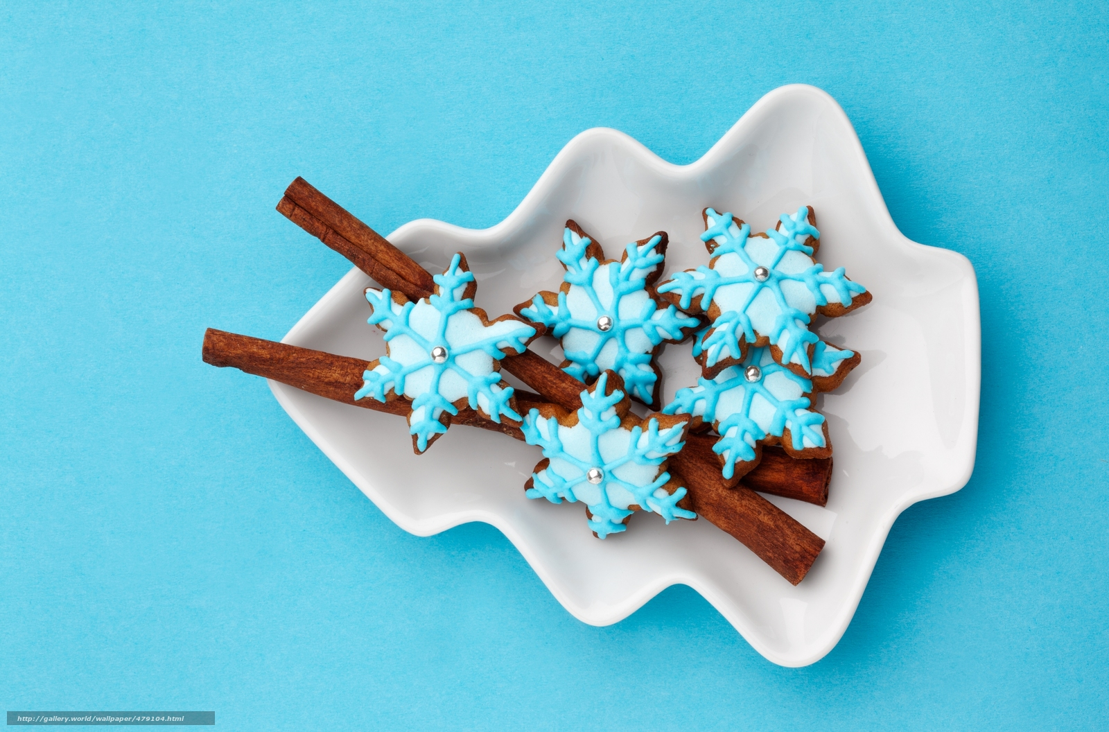 Download wallpaper cookies,  New Year,  Snowflakes,  glaze free desktop wallpaper in the resolution 5000x3300 — picture №479104