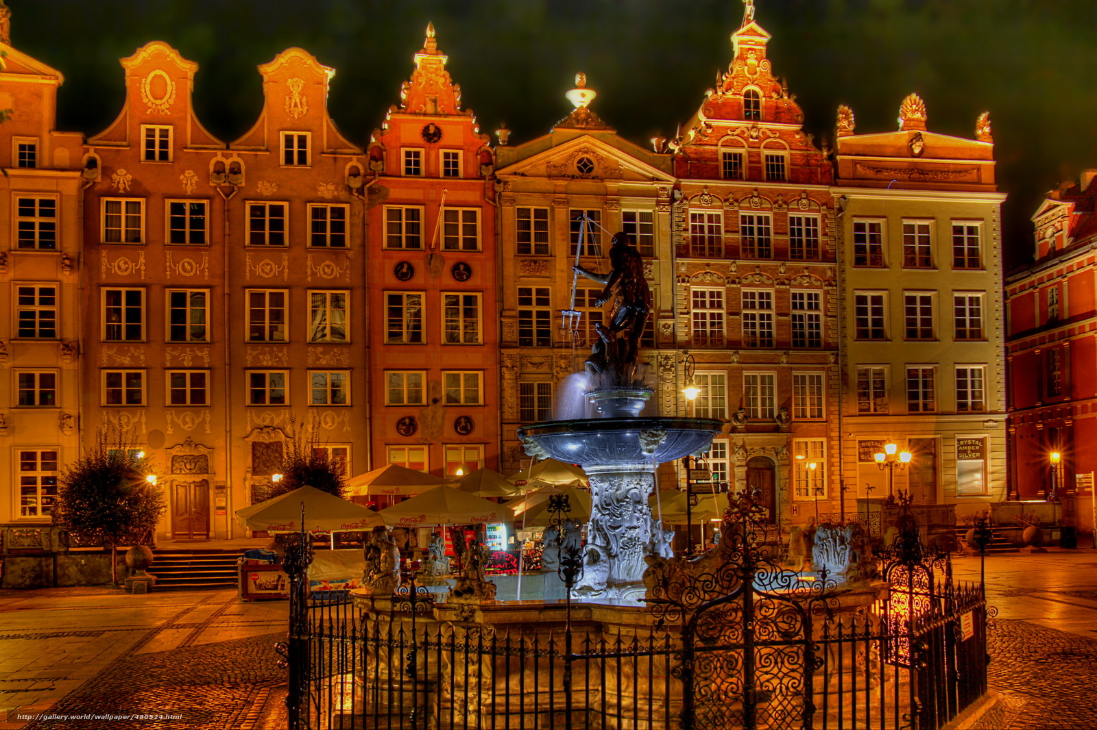 Download wallpaper Poland,  home,  Fountains,  gdansk free desktop wallpaper in the resolution 2972x1981 — picture №480524