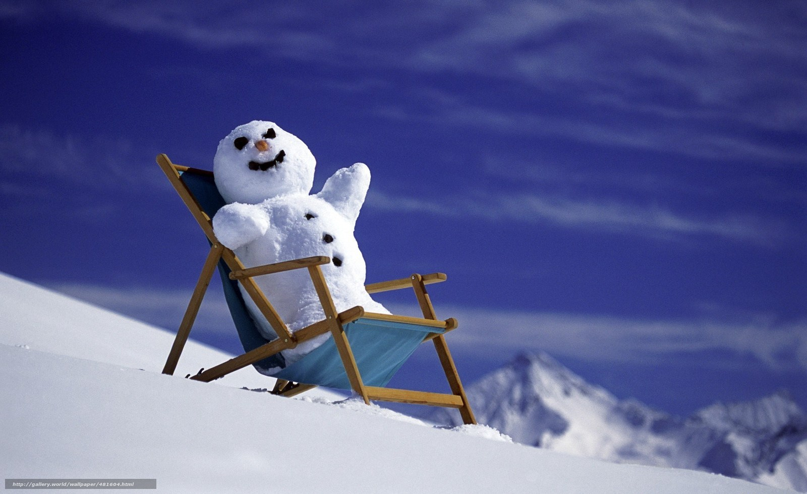 Download wallpaper snowman,  New Year,  snow,  Mountains free desktop wallpaper in the resolution 1920x1176 — picture №481604