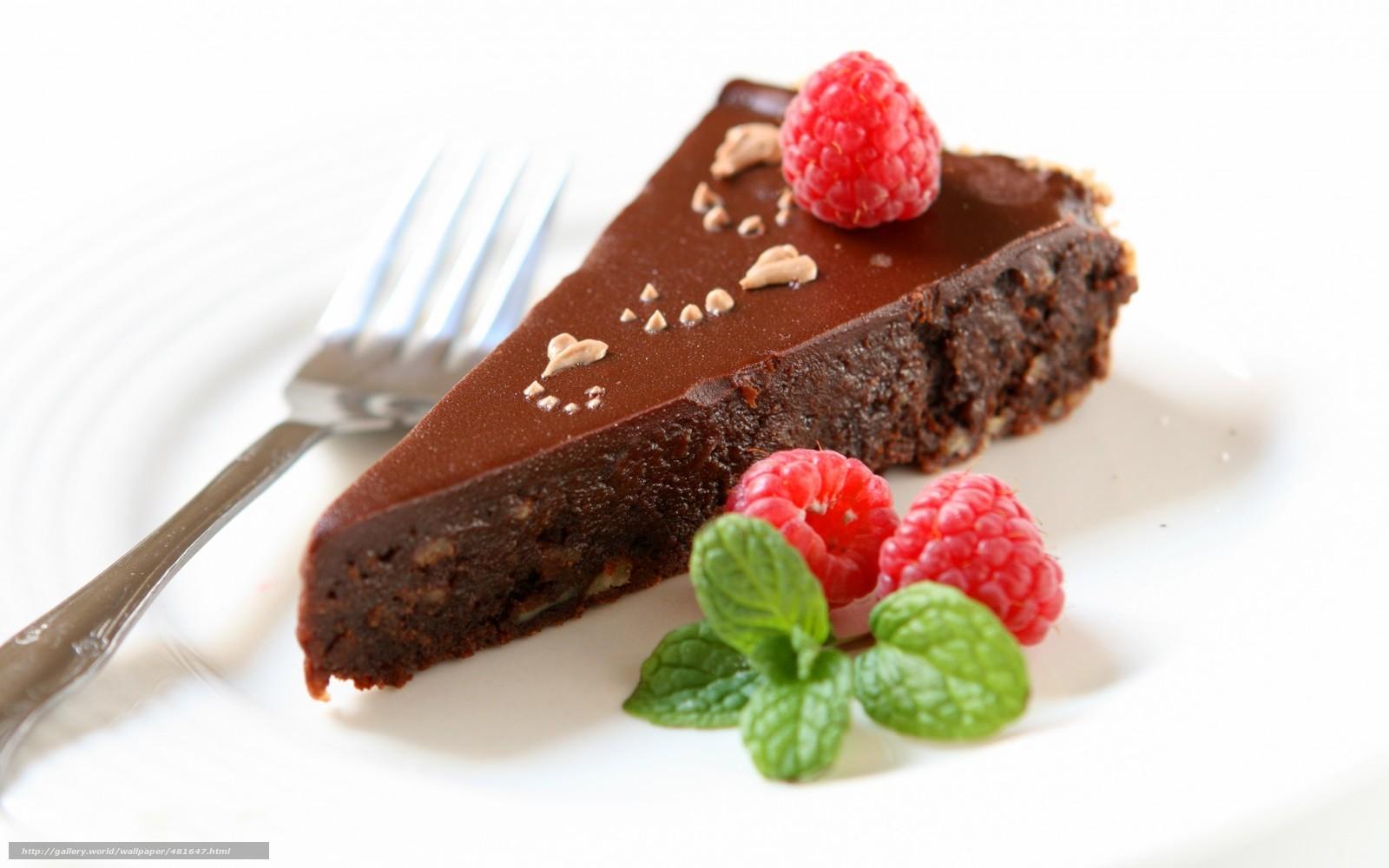 Download wallpaper fork,  cake,  raspberry,  Berries free desktop wallpaper in the resolution 1680x1050 — picture №481647