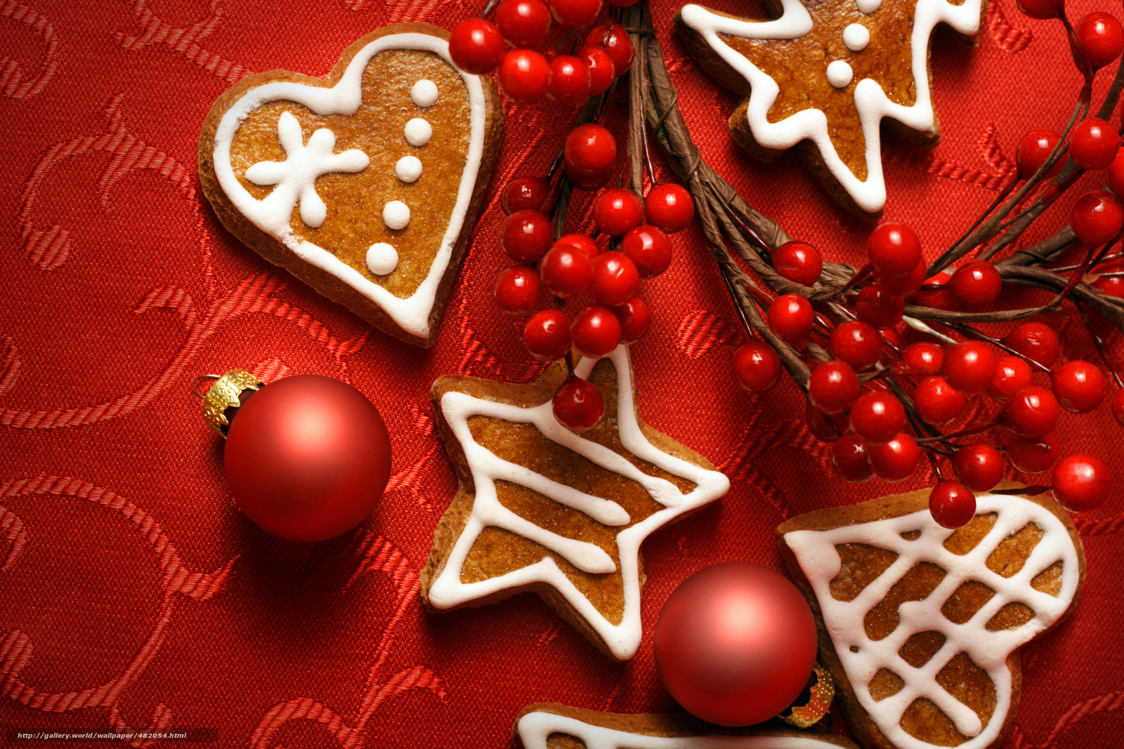 Download wallpaper New Year,  Christmas,  Toys,  cookies free desktop wallpaper in the resolution 3000x2000 — picture №482054