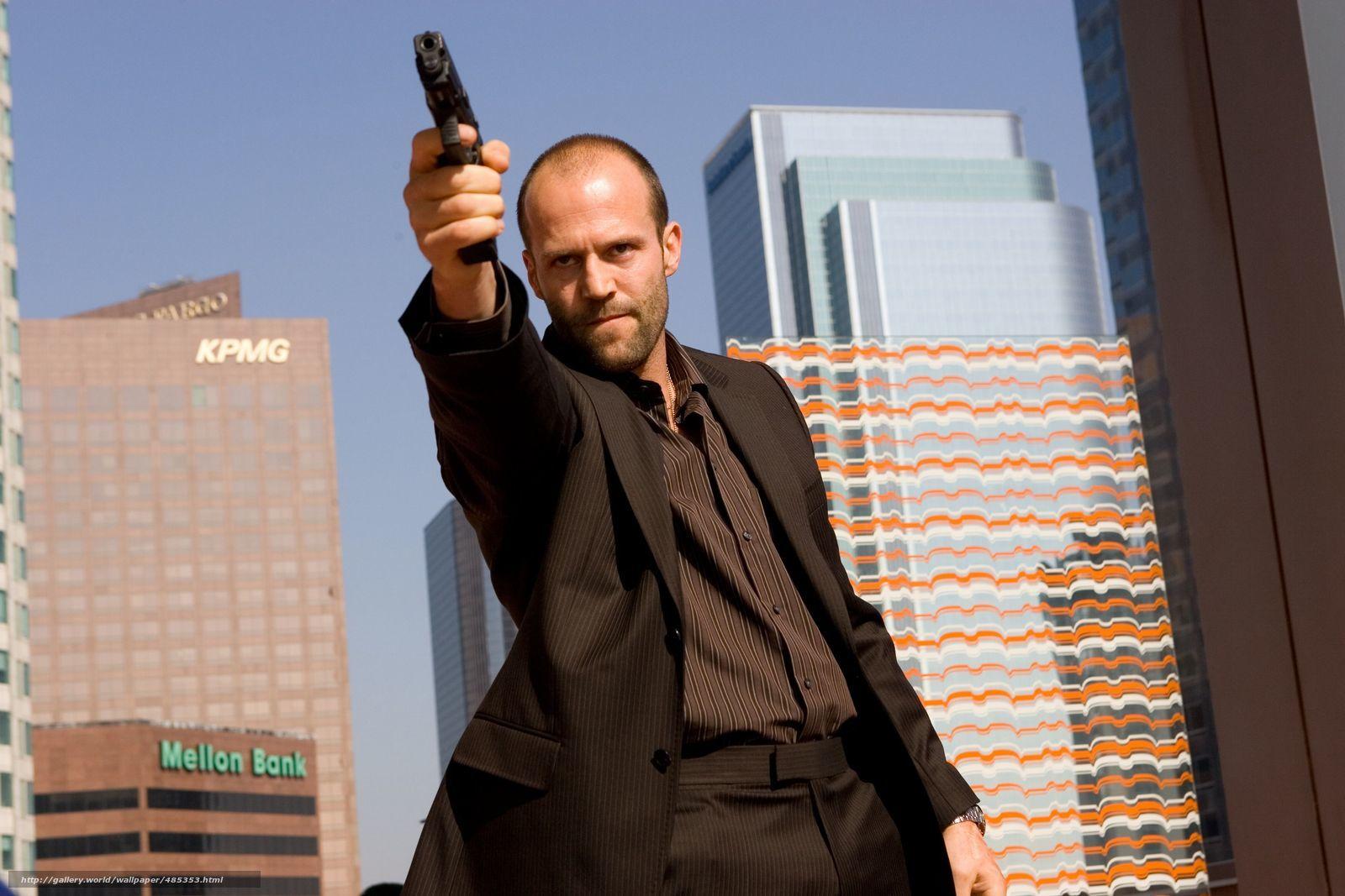 Скачать обои Джейсон Стэтхэм,  актер,  пистолет бесплатно для рабочего стола в разрешении 1600x1067 — картинка №485353