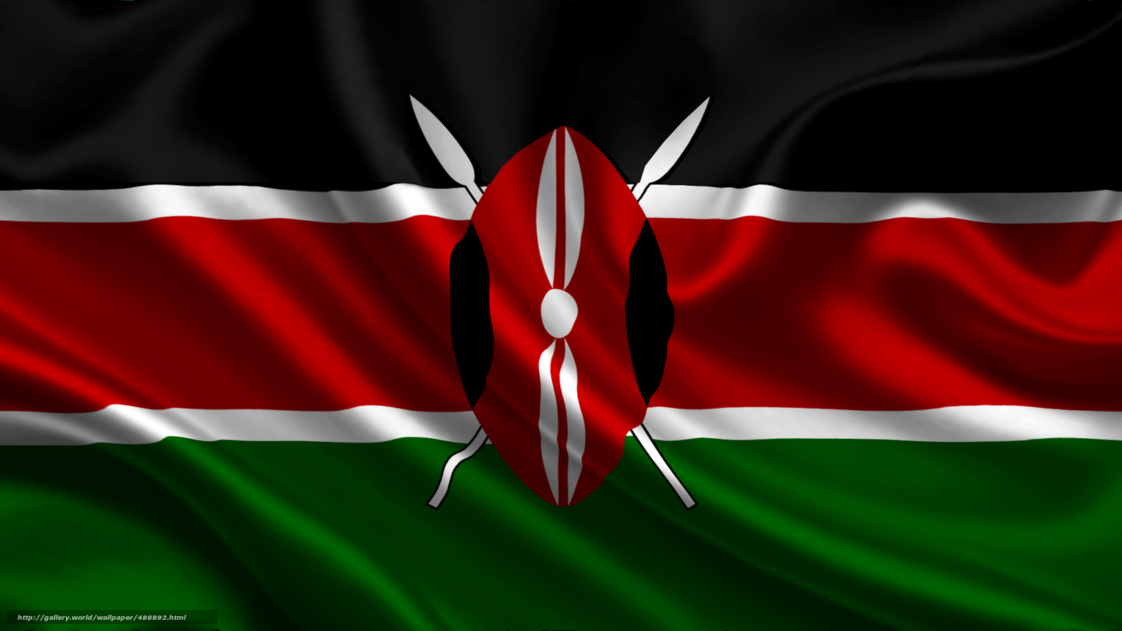 Download wallpaper kenya,  satin,  flag,  flag free desktop wallpaper in the resolution 1920x1080 — picture №488892