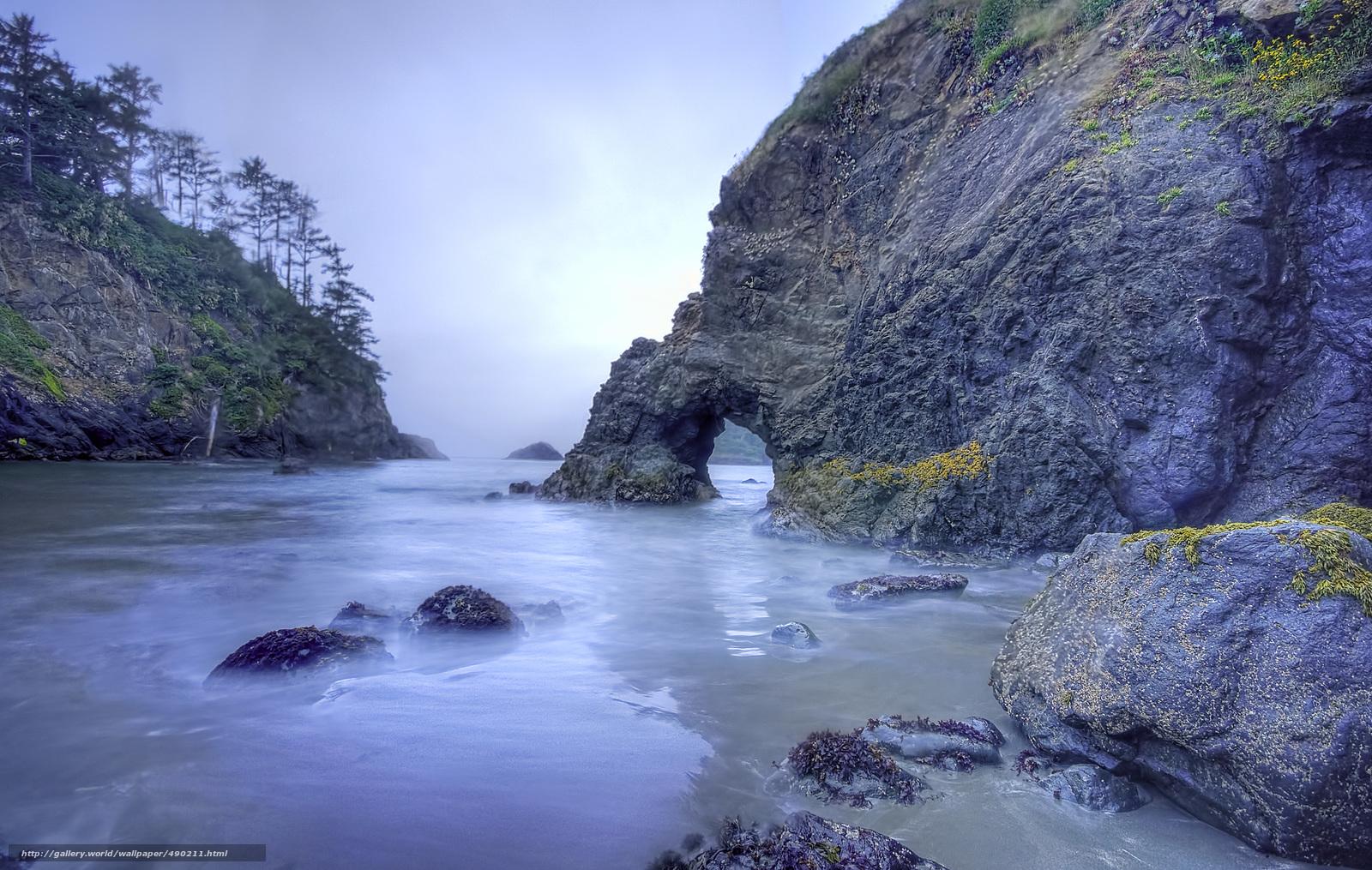 Download wallpaper sea,  rocks,  arch,  landscape free desktop wallpaper in the resolution 2500x1586 — picture №490211