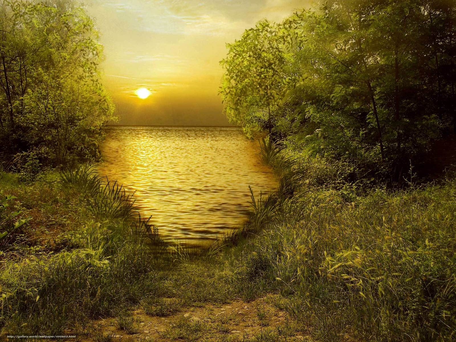 scaricare gli sfondi paesaggio,  mare,  cielo,  alberi Sfondi gratis per la risoluzione del desktop 2048x1536 — immagine №490603