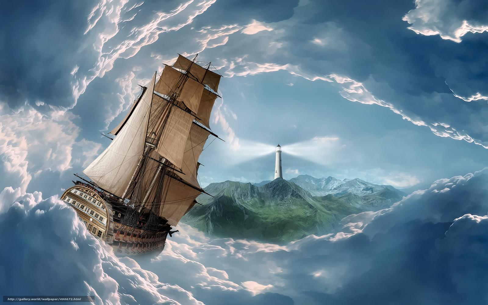 Photo Un aqueduc et des nuages deviennent un voilier en train de