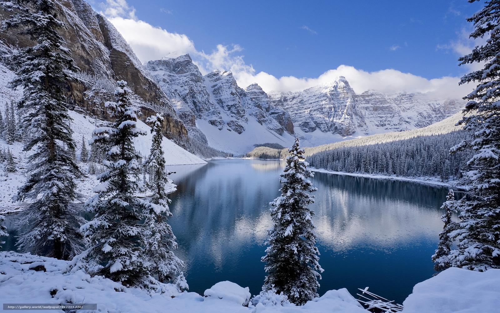 Scaricare Gli Sfondi Inverno Montagne Lago Paesaggio Sfondi