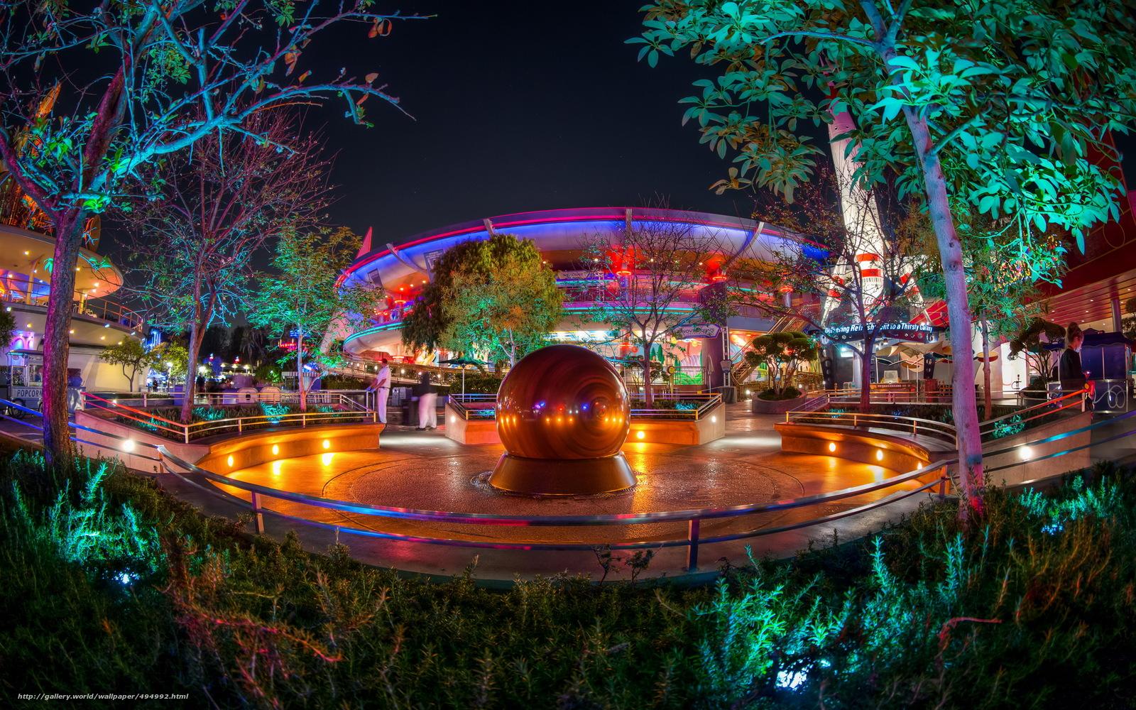 scaricare gli sfondi Stati Uniti d'America,  Disneyland,  California,  notte Sfondi gratis per la risoluzione del desktop 4256x2660 — immagine №494992