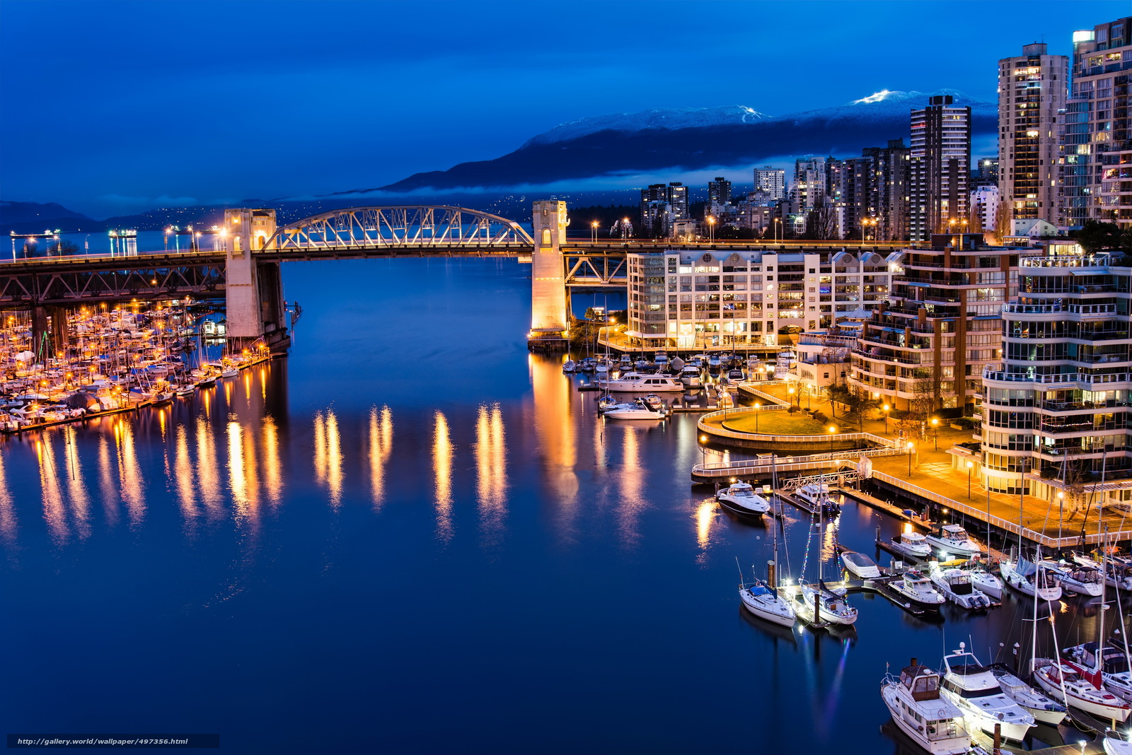 Download wallpaper canada,  vancouver,  cities,  night free desktop wallpaper in the resolution 4592x3065 — picture №497356
