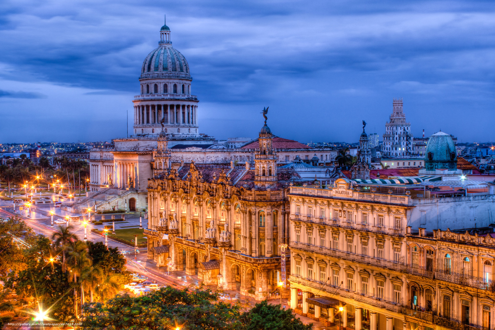 Download wallpaper Cuba,  Havana,  evening,  lights free desktop wallpaper in the resolution 2048x1367 — picture №497618