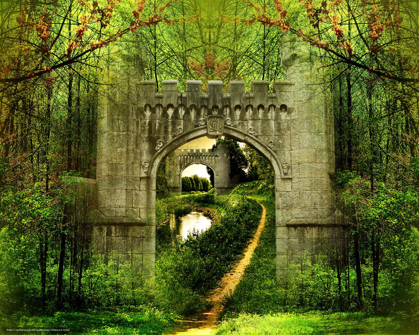 Descargar gratis Arco,  Naturaleza,  3d,  arte Fondos de escritorio en la resolucin 2500x2000 — imagen №498225