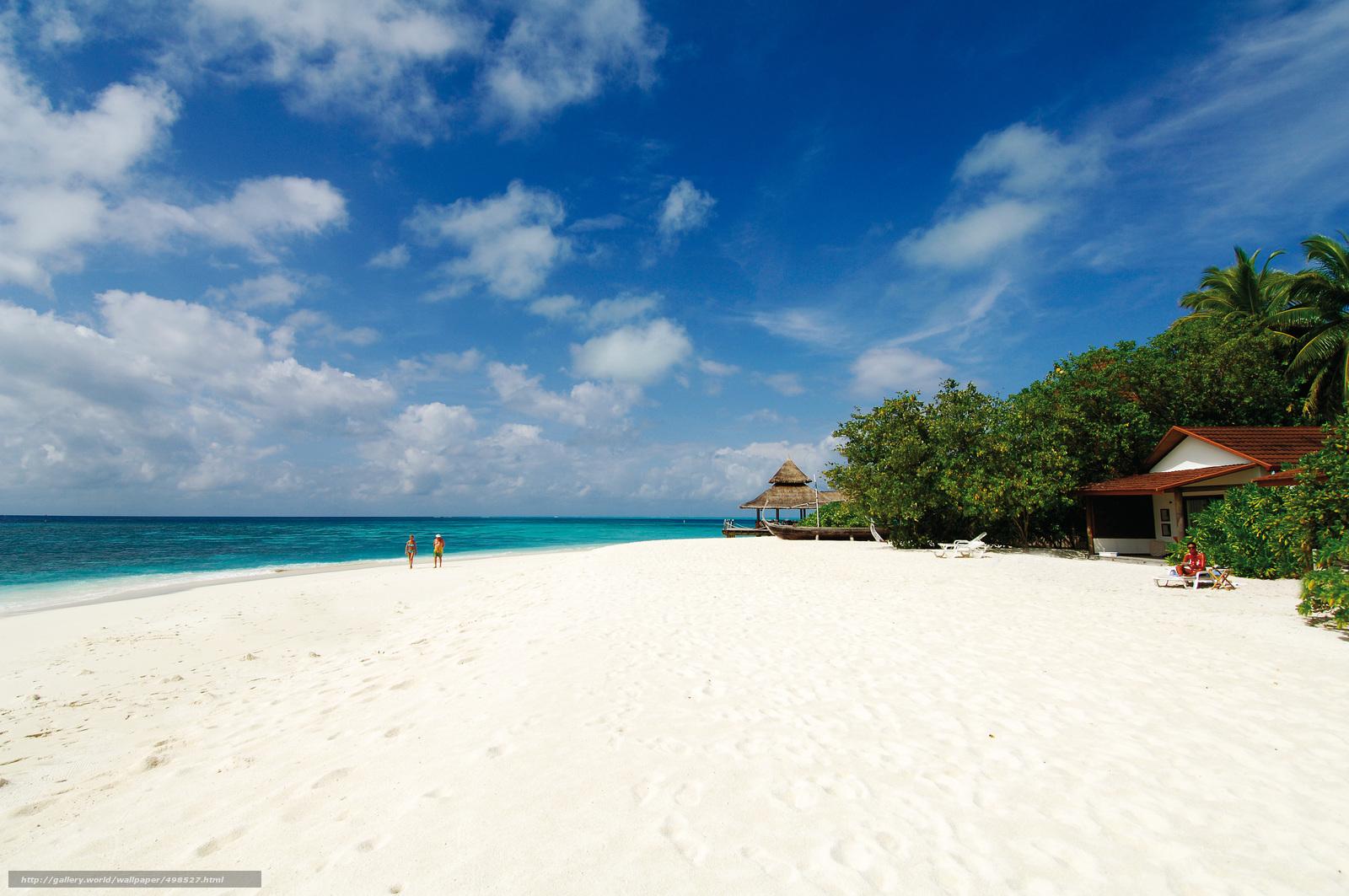 Download wallpaper Maldives,  tropics,  beach free desktop wallpaper in the resolution 4288x2848 — picture №498527