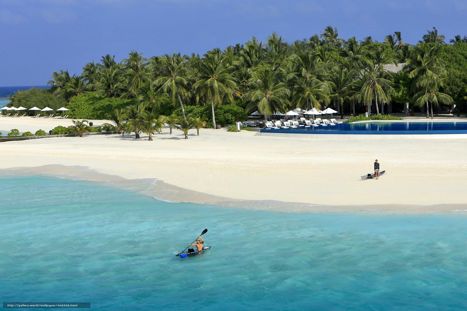 Tlcharger Fond d'ecran Maldives,  des tropiques,  plage Fonds d'ecran gratuits pour votre rsolution du bureau 5760x3840 — image №498598