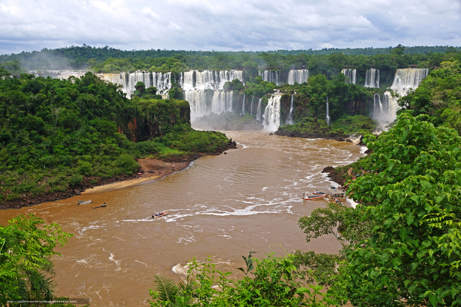 Download wallpaper waterfalls,  Brazil,  River,  landscape free desktop wallpaper in the resolution 2972x1981 — picture №498676