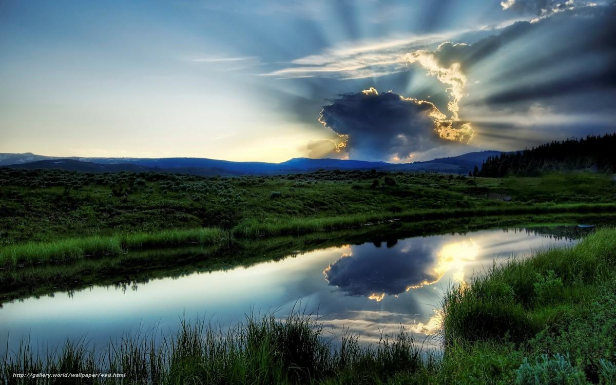 Скачать обои река,  озеро,  вода,  зелень бесплатно для рабочего стола в разрешении 1920x1200 — картинка №498