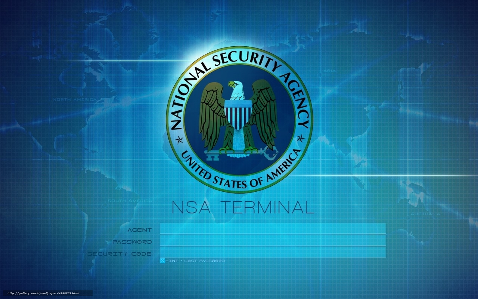 Download wallpaper nsa,  terminal,  logotip free desktop wallpaper in the resolution 2560x1600 — picture №499823