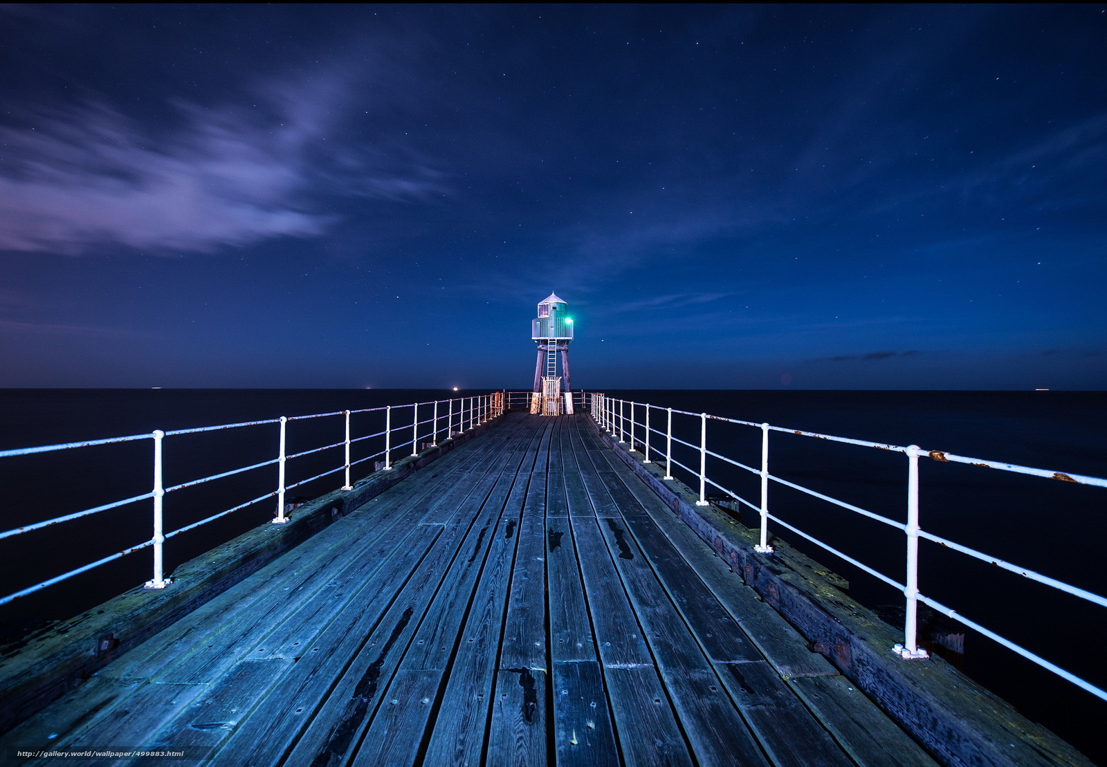 Scaricare Gli Sfondi Mare Notte Molo Faro Sfondi Gratis Per La