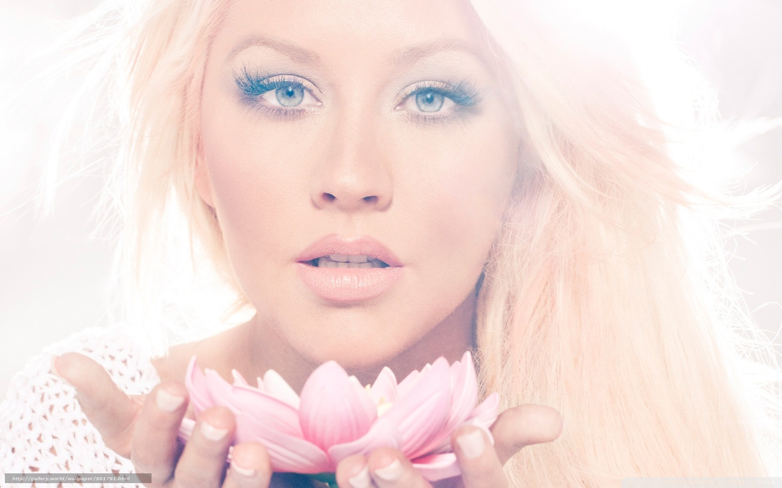 Download wallpaper Christina Aguilera,  lotus,   free desktop wallpaper in the resolution 1920x1200 — picture №501791