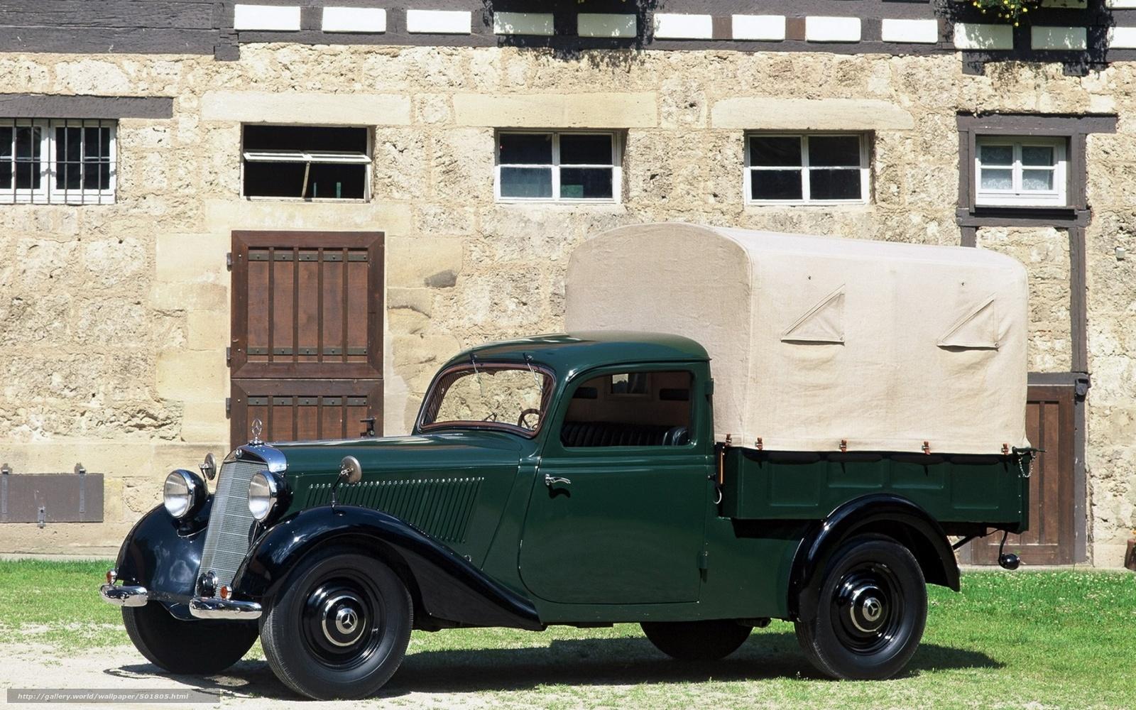 Descargar gratis Mercedes,  mersedes benz camioneta,  Coche,  retro. Fondos de escritorio en la resolucin 1680x1050 — imagen №501805