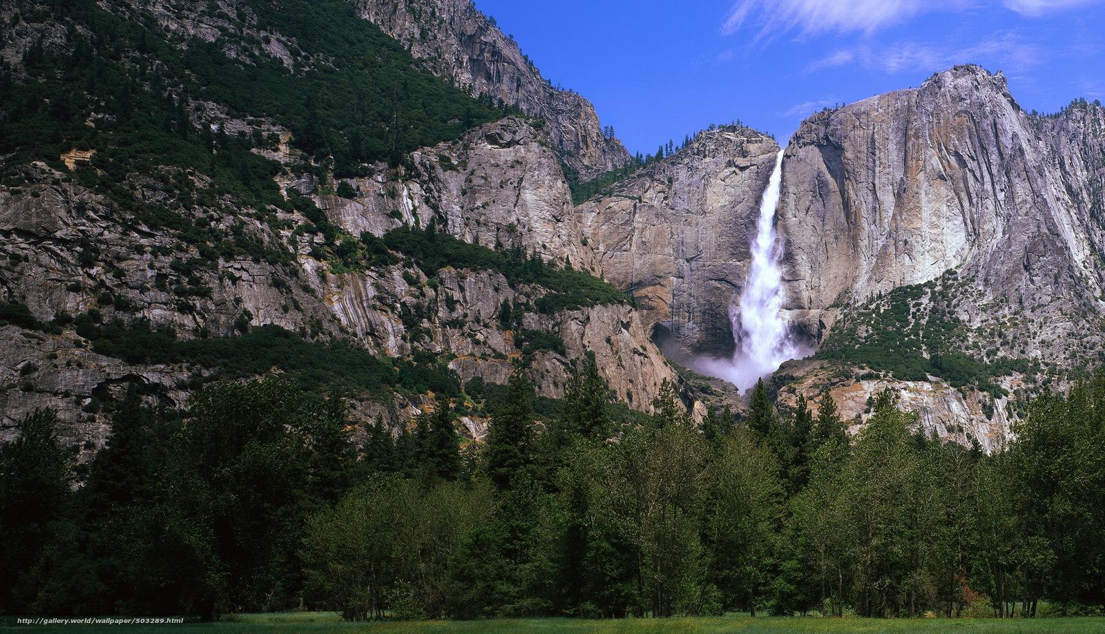 Download wallpaper Mountains,  waterfalls,  landscape,  rock free desktop wallpaper in the resolution 2092x1200 — picture №503289