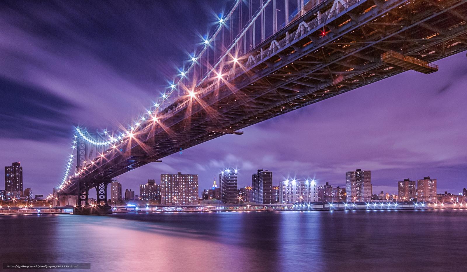 tlcharger fond d 39 ecran new york nuit rivire pont fonds d 39 ecran gratuits pour votre rsolution. Black Bedroom Furniture Sets. Home Design Ideas