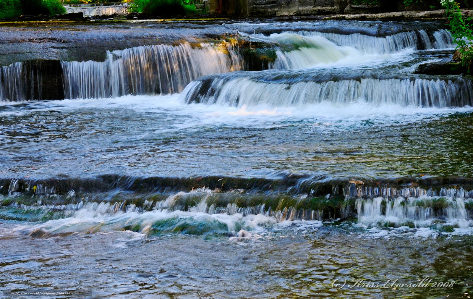 Скачать обои река,  водопады,  природа бесплатно для рабочего стола в разрешении 1900x1200 — картинка №509758