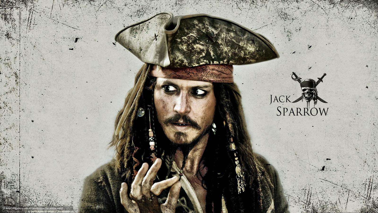 壁紙をダウンロード ジャック·スパロウ, ジョニー·デップ(ジョニー·デップ), 海賊 デスクトップの解像度のための ... Johnny Depp